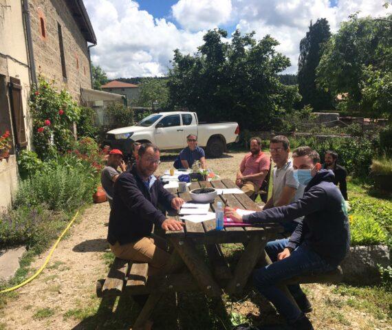 19 juin 2020 : Première rencontre des producteurs de Sapin Bio français chez Jean Fournel dans La Loire